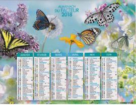Calendrier Poste.Calendrier La Poste 2018 Fleurs Et Papillons 1131507389 Ml